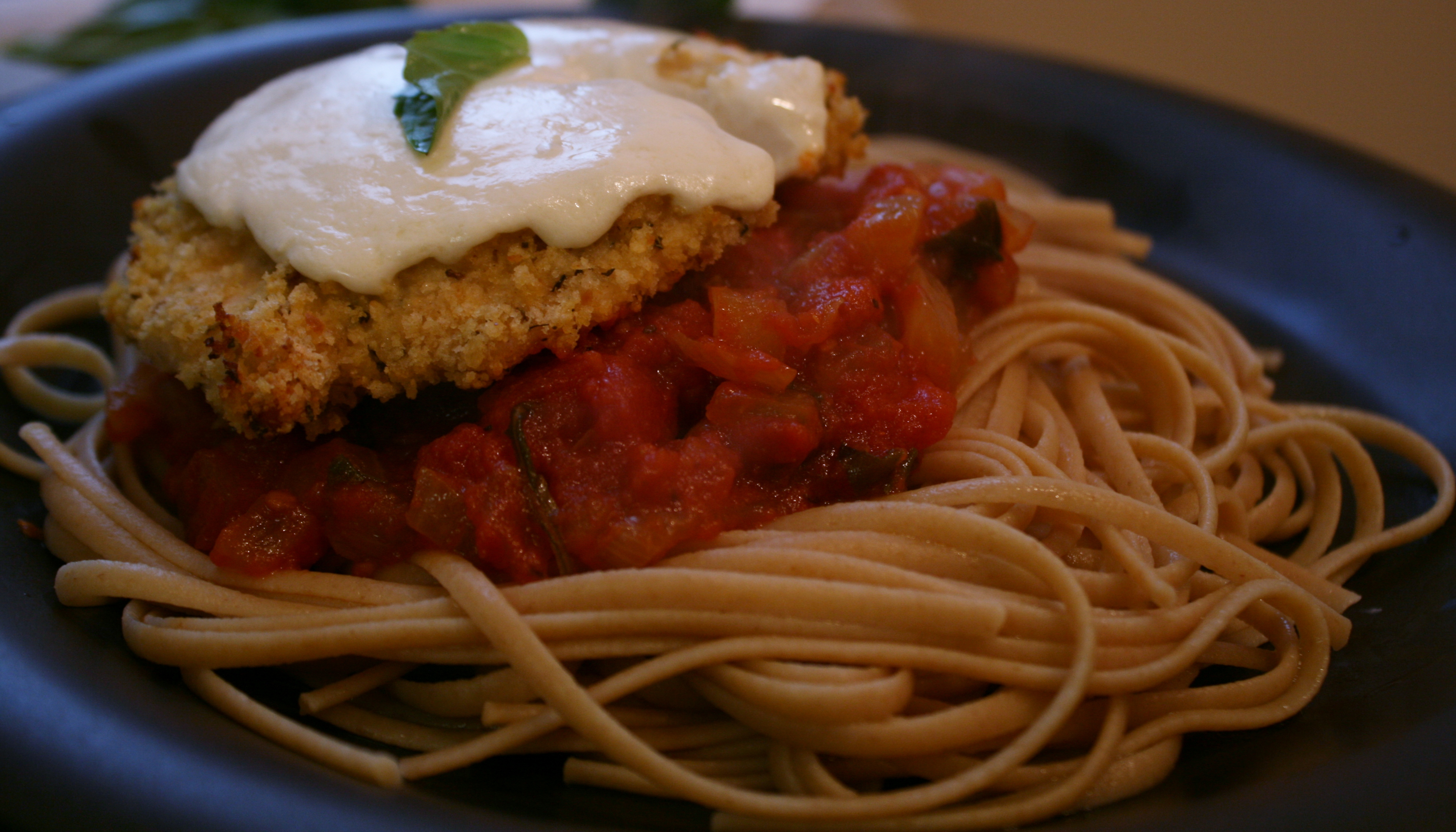 Low-Fat Baked Chicken Parmesan