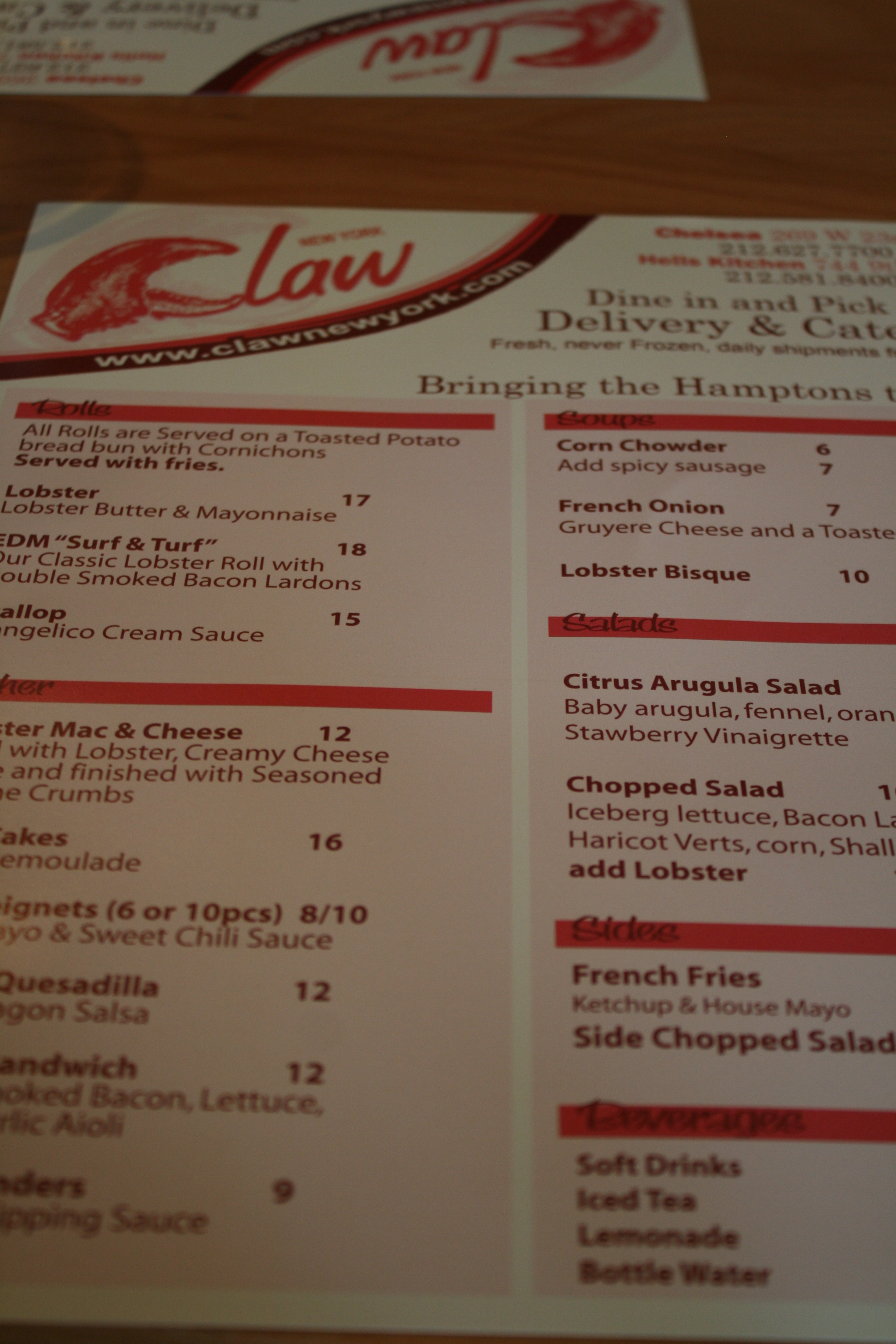claw new england lobster rolls in hell s kitchen
