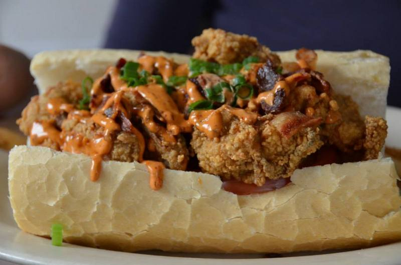 fried oyster and bacon sandwich recipes dishmaps fried oyster po boys ...